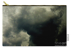 Carry-all Pouch featuring the photograph Hard Rain's Gonna Fall by Jesse Ciazza