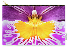 Carry-all Pouch featuring the photograph Hardhat Soldier/orchid by Penny Lisowski