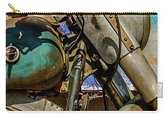 Carry-all Pouch featuring the photograph Harley Davidson - American Icon II by Bill Gallagher