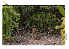 Carry-all Pouch featuring the photograph Hare Habitat H22 by Mark Myhaver