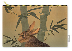 Hare Under Bamboo Tree Carry-all Pouch