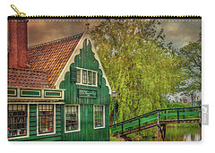 Carry-all Pouch featuring the photograph Haremakerij At The Brook by Hanny Heim