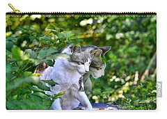 Harlequin Cat Twins Carry-all Pouch