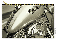 Carry-all Pouch featuring the photograph Harley At Bentley's by Samuel M Purvis III