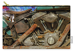 Carry-all Pouch featuring the photograph Harley Davidson - An American Icon by Bill Gallagher