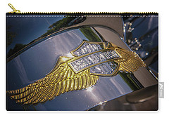 Carry-all Pouch featuring the photograph Harley Davidson Badge by Samuel M Purvis III