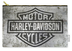 Harley Davidson Logo On Metal Carry-all Pouch