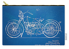 Carry-all Pouch featuring the digital art Harley-davidson Motorcycle 1928 Patent Artwork by Nikki Marie Smith