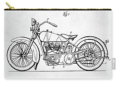 Carry-all Pouch featuring the digital art Harley Davidson Patent by Taylan Apukovska