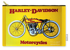 Harley - Davidson  Poster Carry-all Pouch by Pg Reproductions