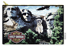 Carry-all Pouch featuring the digital art Harley Davidson The Last Great American by Gina Dsgn
