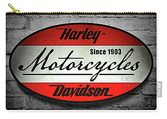 Harley Davidson Vintage Shop Sign  1903 Carry-all Pouch