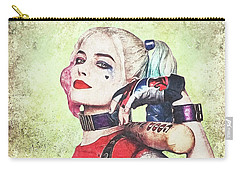 Harley Is A Crazy Woman Carry-all Pouch by Anton Kalinichev