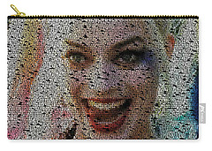Harley Quinn Quotes Mosaic Carry-all Pouch by Paul Van Scott