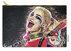 Carry-all Pouch featuring the digital art Harley Quinn by Taylan Apukovska