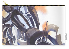 Carry-all Pouch featuring the painting Motorcycle Iv by Kip DeVore