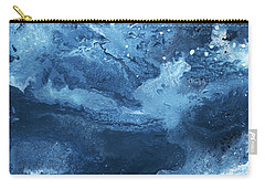 Harmonious Blues- Art By Linda Woods Carry-all Pouch