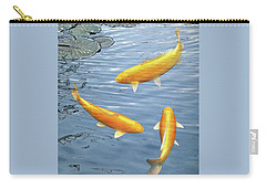Carry-all Pouch featuring the photograph Harmony - Golden Koi by Gill Billington