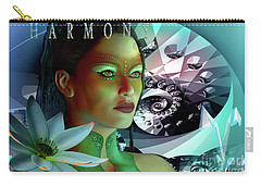Carry-all Pouch featuring the digital art Harmony by Shadowlea Is