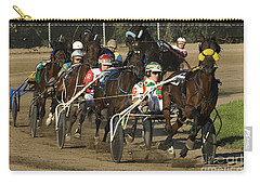 Harness Racing 9 Carry-all Pouch by Bob Christopher