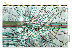 Carry-all Pouch featuring the digital art Harnessing Energy 3 by Angelina Vick