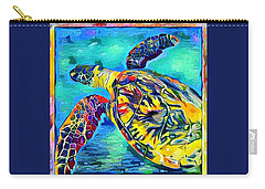 Harold The Turtle Carry-all Pouch by Erika Swartzkopf