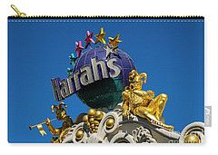 Harrah's Casino Sign On The Las Vegas Strip Carry-all Pouch