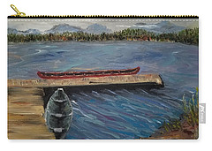 Carry-all Pouch featuring the painting Harriet Hunt Lake, Ketchikan, Alaska by Judith Rhue