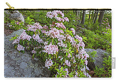 Harriman Pink And White Mountain Laurel Carry-all Pouch