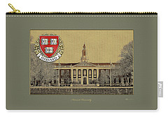Harvard University Building Overlaid With 3d Coat Of Arms Carry-all Pouch