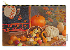 Carry-all Pouch featuring the painting Harvest Bounty by Nancy Lee Moran