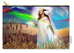 Carry-all Pouch featuring the digital art Harvest Bride by Dolores Develde