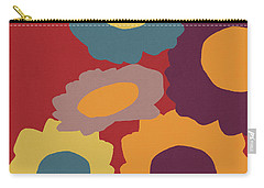 Harvest Flowers Red- Art By Linda Woods Carry-all Pouch