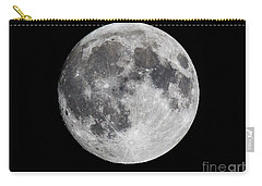Carry-all Pouch featuring the photograph Harvest Moon At 99 Pct. Waxing Gibbous by Ricky L Jones
