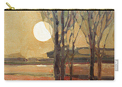 Carry-all Pouch featuring the painting Harvest Moon by Donald Maier
