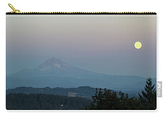 Harvest Moon Full Moonrise Over Mount Hood Oregon Carry-all Pouch