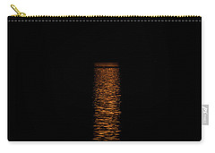 Carry-all Pouch featuring the photograph Harvest Moonrise by Paul Freidlund