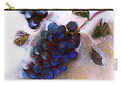 Harvest Wine Grapes On Canvas Painting Carry-all Pouch