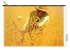 Carry-all Pouch featuring the painting Harvesting The Wheat 1908 Harvey T Dunn by Peter Gumaer Ogden