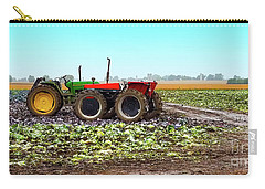 Carry-all Pouch featuring the photograph Harvesting Time In Wisconsin  by Ricky L Jones