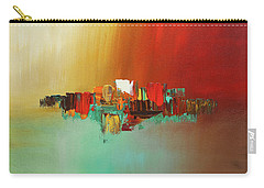 Carry-all Pouch featuring the painting Hashtag Happy - Abstract Art by Carmen Guedez