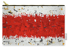 Carry-all Pouch featuring the painting Hashtag Red - Abstract Art by Carmen Guedez