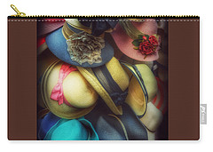 Carry-all Pouch featuring the photograph Hats - A Cornucopia Of Color by Miriam Danar