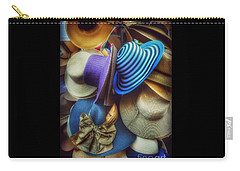 Carry-all Pouch featuring the photograph Hats Of Yesteryear by Miriam Danar