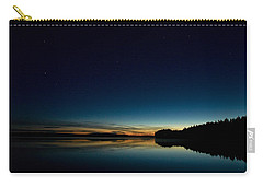 Carry-all Pouch featuring the photograph Haukkajarvi By Night With Ursa Major 1 by Jouko Lehto