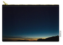 Carry-all Pouch featuring the photograph Haukkajarvi By Night With Ursa Major 2 by Jouko Lehto