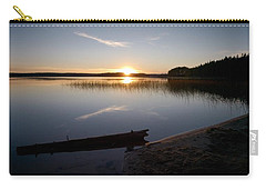 Carry-all Pouch featuring the photograph Haukkajarvi Evening by Jouko Lehto
