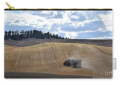 Hauling The Harvest From The Fields. Carry-all Pouch