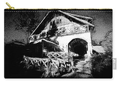 Haunted House Carry-all Pouch by Celso Bressan