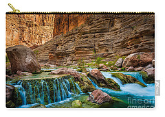 Havasu Creek Cascade Carry-all Pouch by Inge Johnsson